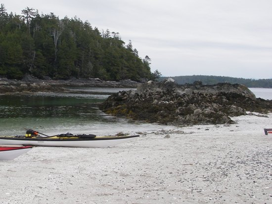 kayaking Vancouver Island Broken Group Islands beach landing