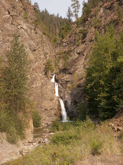 Vancouver hiking trails South Chilcotin waterfall