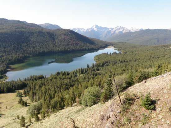 Vancouver hiking trails South Chilcotin Spruce Lake overview