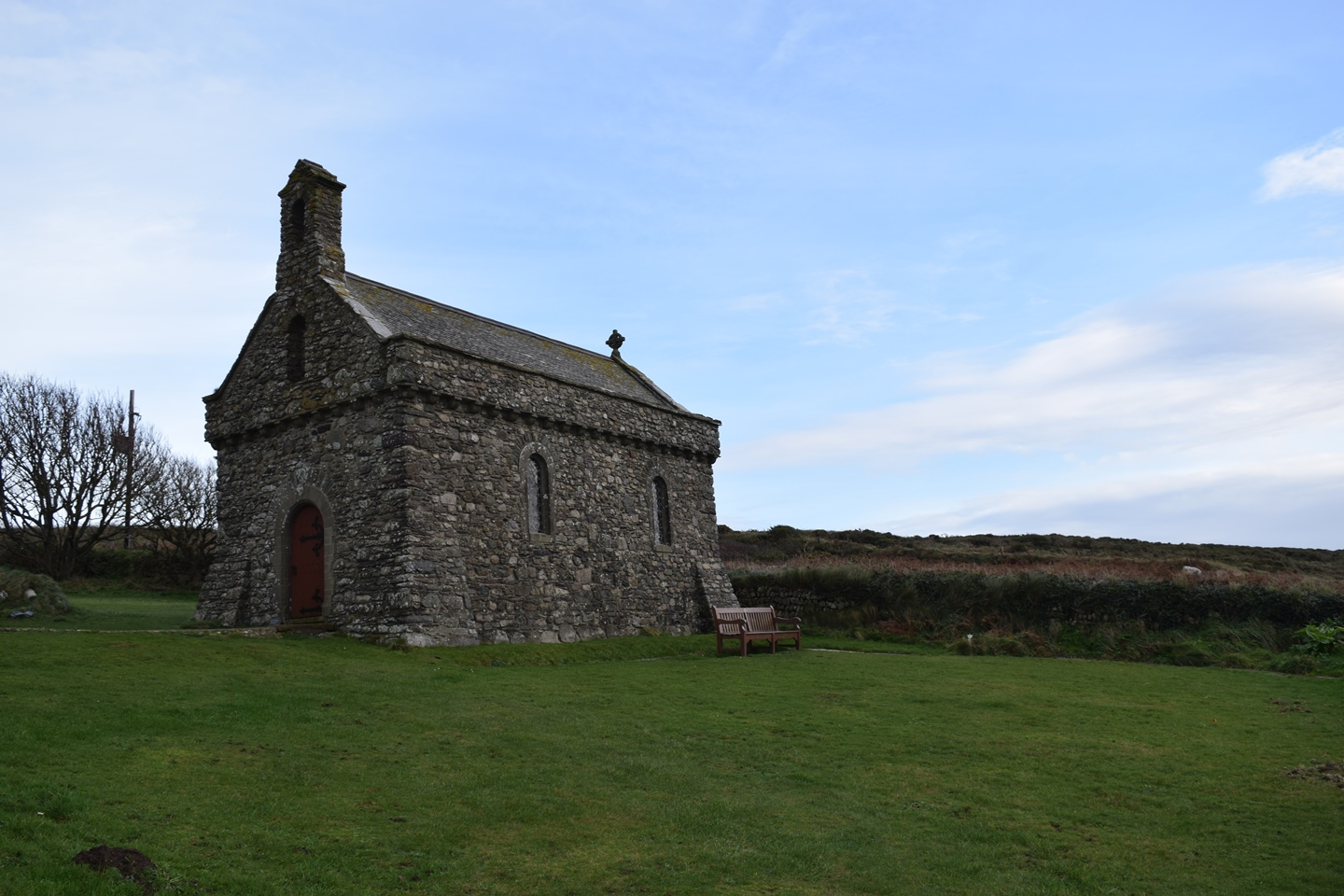 An ancient church on the Welsh coast