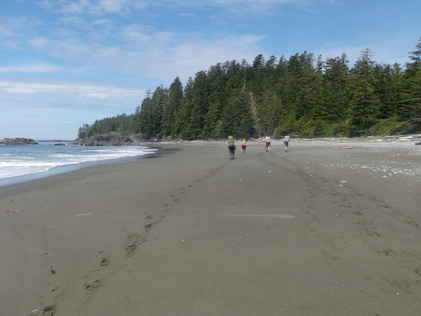 Barge Beach Vancouver Island Hiking